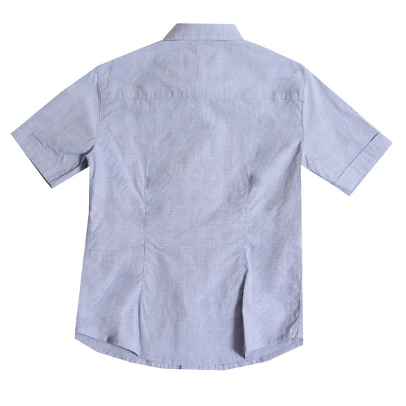 Emporio Armani Boys Blue Boys Small Check Shirt main image