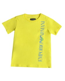 Emporio Armani Boys Yellow Boys Logo T Shirt
