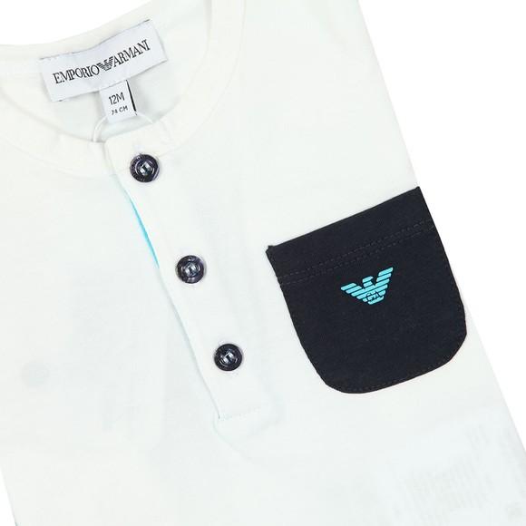 Emporio Armani Baby Boys White T Shirt & Short Set main image