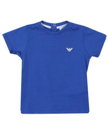 Emporio Armani Baby Boys Blue Small Logo T Shirt