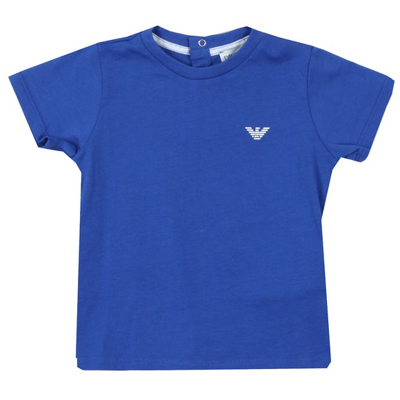 Emporio Armani Baby Boys Blue Small Logo T Shirt main image