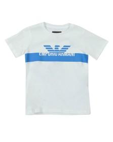 Emporio Armani Boys White Boys Logo T Shirt