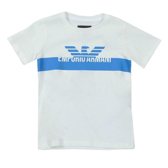Emporio Armani Boys White Boys Logo T Shirt main image