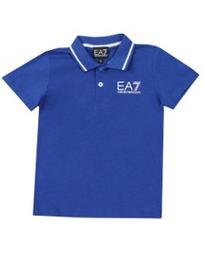 EA7 Emporio Armani Boys Blue Boys Tipped Polo Shirt