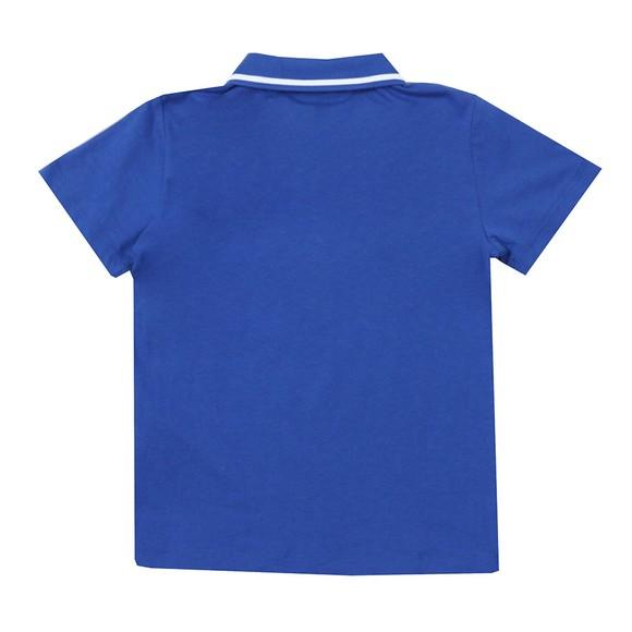 EA7 Emporio Armani Boys Blue Boys Tipped Polo Shirt main image
