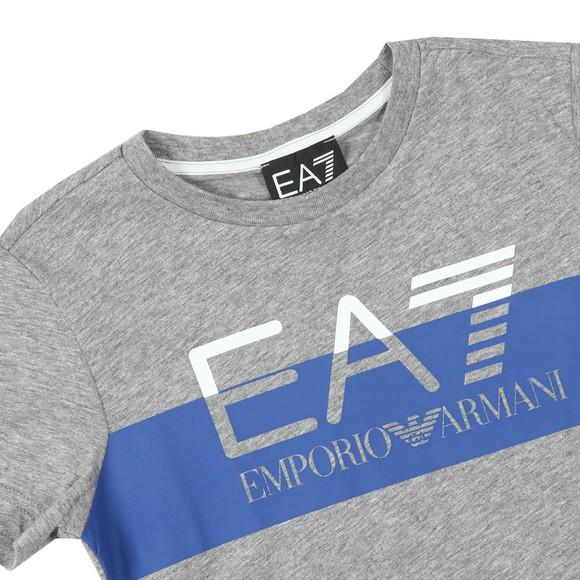 EA7 Emporio Armani Boys Grey Split Logo T Shirt main image