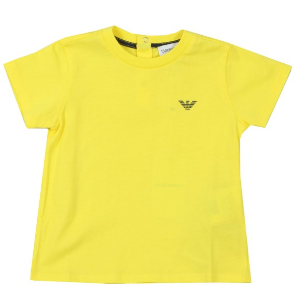 Emporio Armani Baby Boys Yellow Small Logo T Shirt