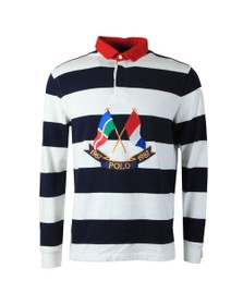 Polo Ralph Lauren Mens Blue Polo Flag Rugby Top