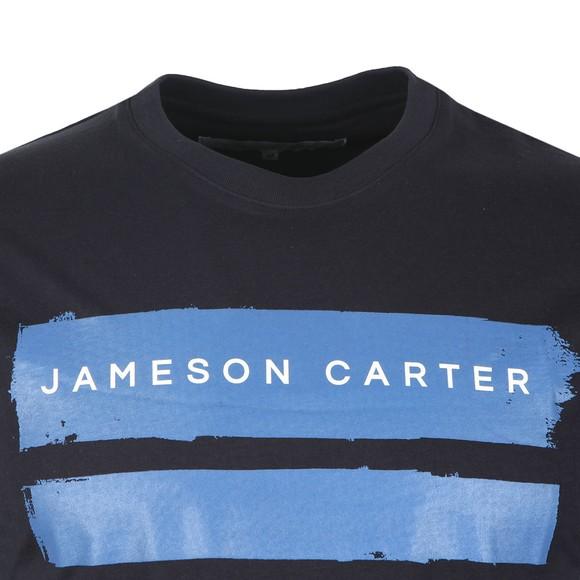 Jameson Carter Mens Blue Paint Stripe T-Shirt main image