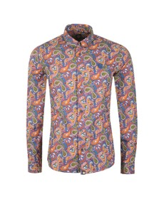 Pretty Green Mens Multicoloured Slim Fit Paisley Print Shirt