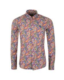 Pretty Green Mens Multicoloured Slim Fit Paisley Print Shirt