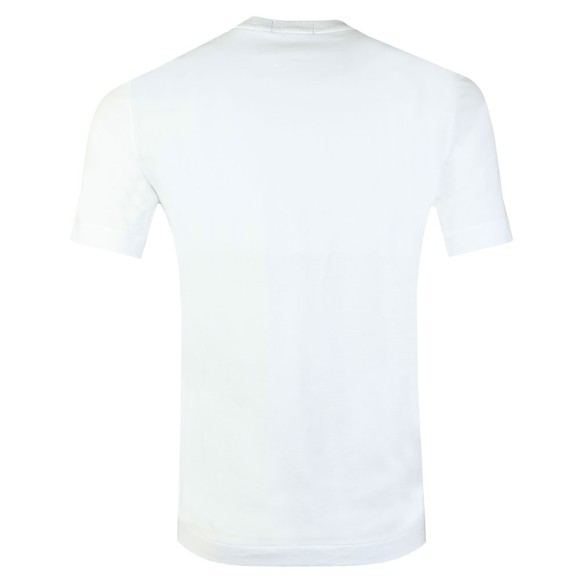 Fred Perry Mens White Mono Graphic T-Shirt main image