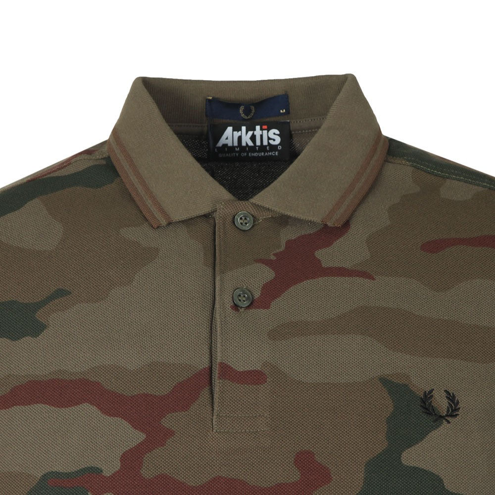 fc88f90b Fred Perry X Arktis Camo Polo | Oxygen Clothing