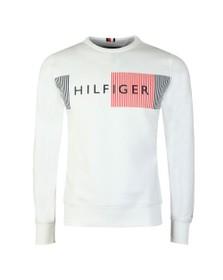 Tommy Hilfiger Mens White Logo sweatshirt