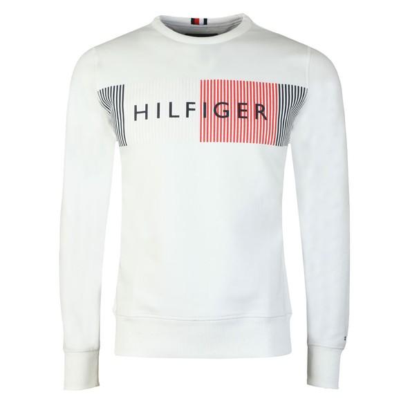 Tommy Hilfiger Mens White Logo sweatshirt main image
