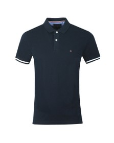 Tommy Hilfiger Mens Blue Basic Tipped Polo
