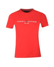Tommy Hilfiger Mens Red Core Tommy Logo Tee