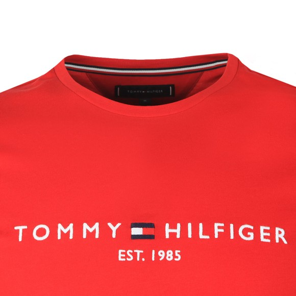 Tommy Hilfiger Mens Red Core Tommy Logo Tee main image