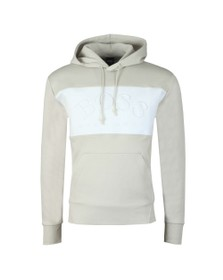 BOSS Mens Beige/White Athleisure Sly Overhead Hoody
