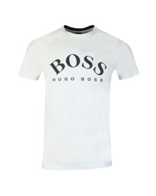 BOSS Mens White Athleisure Sly Tee 7 T Shirt