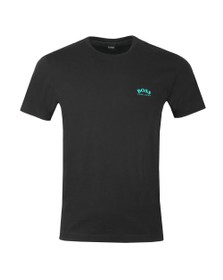 BOSS Mens Black Athleisure Curved Tee