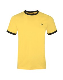 Fred Perry Sportswear Mens Yellow Ringer T-Shirt