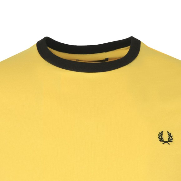 Fred Perry Sportswear Mens Yellow Ringer T-Shirt main image