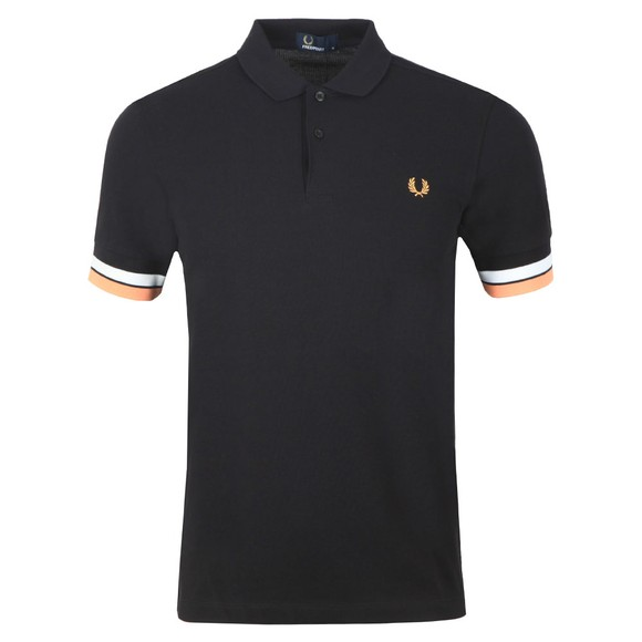 Fred Perry Mens Black Bold Cuff Polo main image