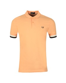 Fred Perry Mens Orange Bold Cuff Polo