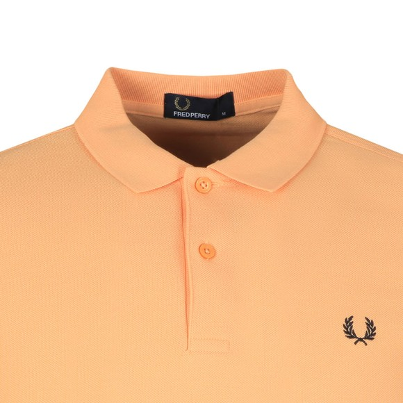 Fred Perry Mens Orange Bold Cuff Polo main image