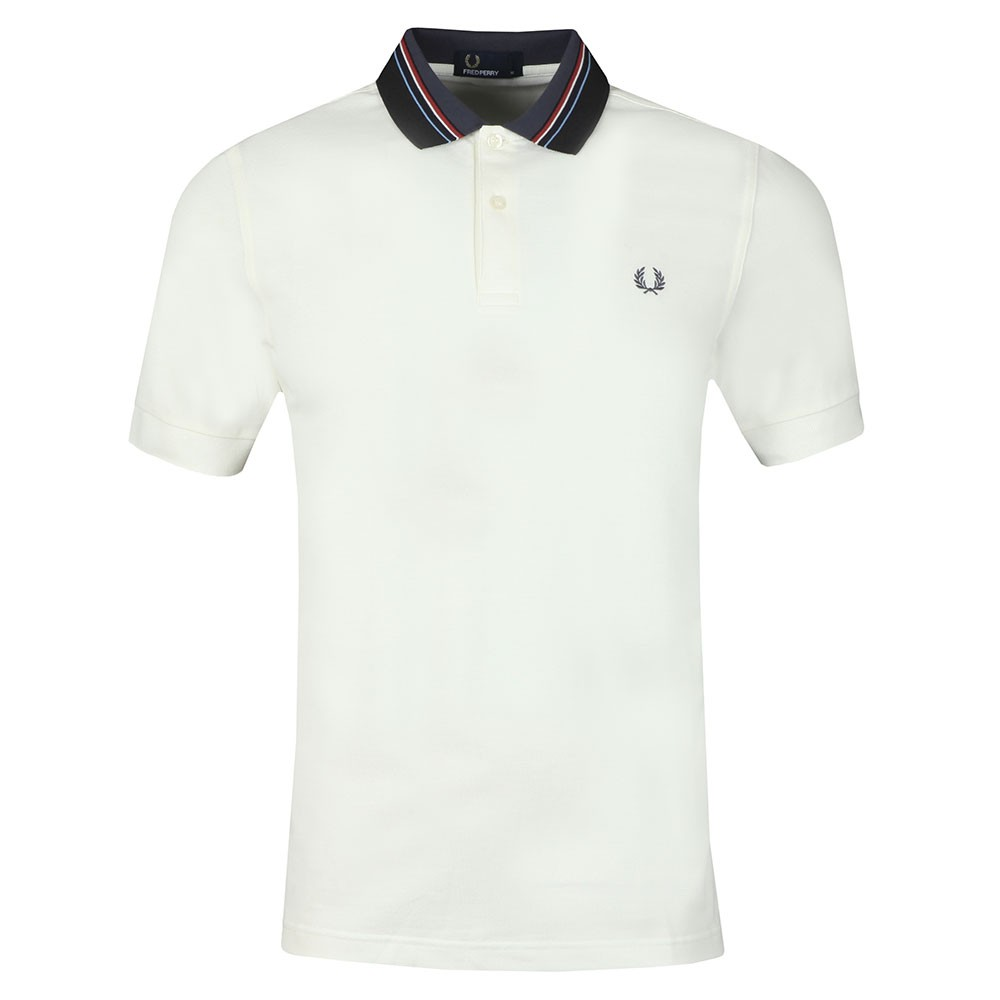 Stripe Collar Pique Polo Shirt main image