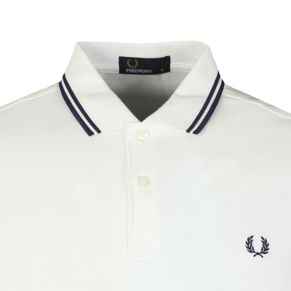 Fred Perry Mens White New Twin Tipped Polo main image