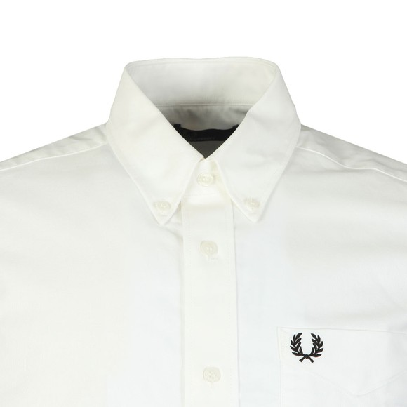 Fred Perry Mens White S/S Oxford Shirt main image