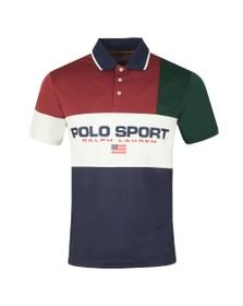 Polo Ralph Lauren Sport Mens Red Multi Polo
