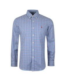 Polo Ralph Lauren Mens Blue Long Sleeve Check Shirt