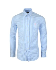 Polo Ralph Lauren Mens Blue Slim Fit Striped Shirt