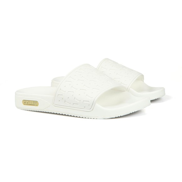Mallet Mens White Logo Sliders main image