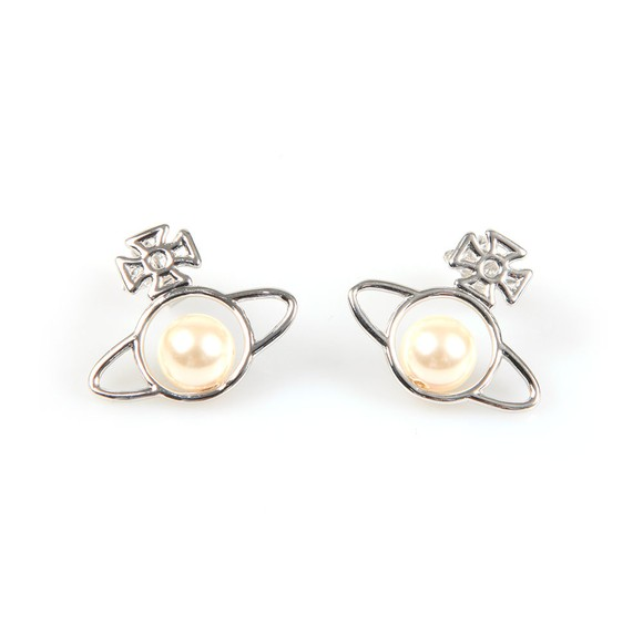 Vivienne Westwood Womens Silver Otavia Orb Small Earring