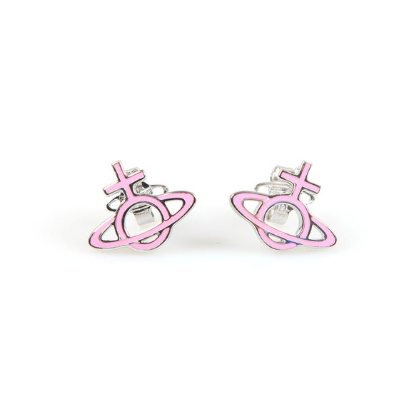 Vivienne Westwood Womens Silver Ornella Bas Relief Earring main image