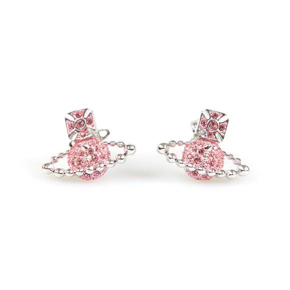Vivienne Westwood Womens Pink Lena Bas Relief Earring main image