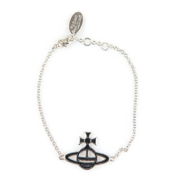 Vivienne Westwood Womens Silver Ornella Double Sided Orb Bracelet main image