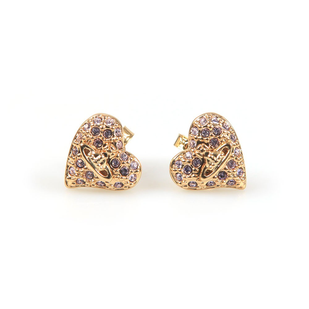 Tiny Diamante Heart Stud Earring main image