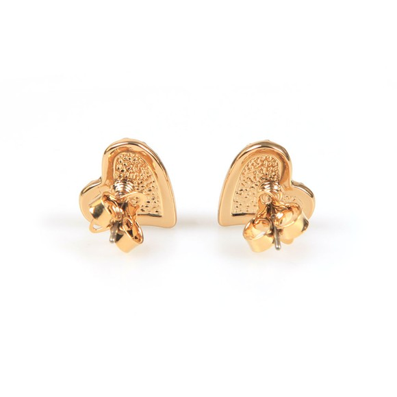 Vivienne Westwood Womens Gold Tiny Diamante Heart Stud Earring main image