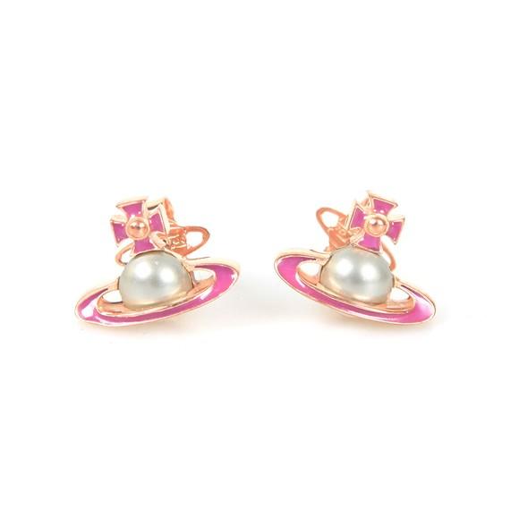 Vivienne Westwood Womens Pink Iris Bas Relief Earring