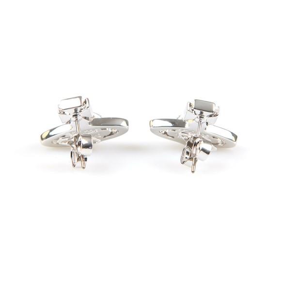 Vivienne Westwood Womens Silver Sorada Bas Relief Orb Earrings main image