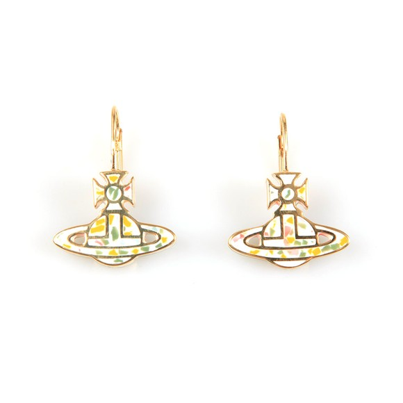 Vivienne Westwood Womens Gold Celeste Bas Relief Drop Earring main image