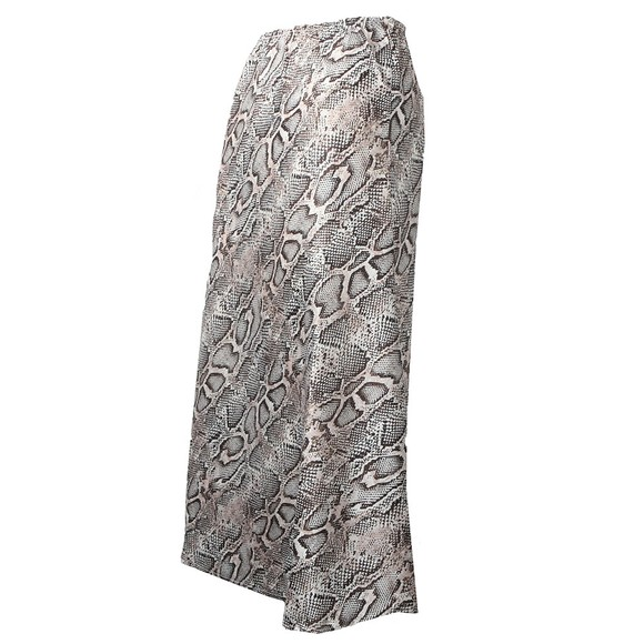 French Connection Womens Grey Silky Bias Cut Skirt main image