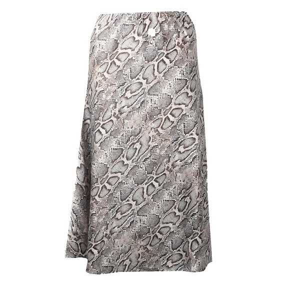French Connection Womens Grey Silky Bias Cut Skirt