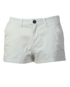 Superdry Womens White Chino Hot Short