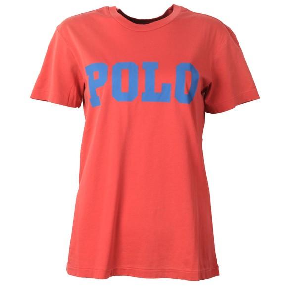 Polo Ralph Lauren Womens Red Big Polo T-Shirt